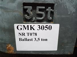 Counterweight Grove GMK 3050